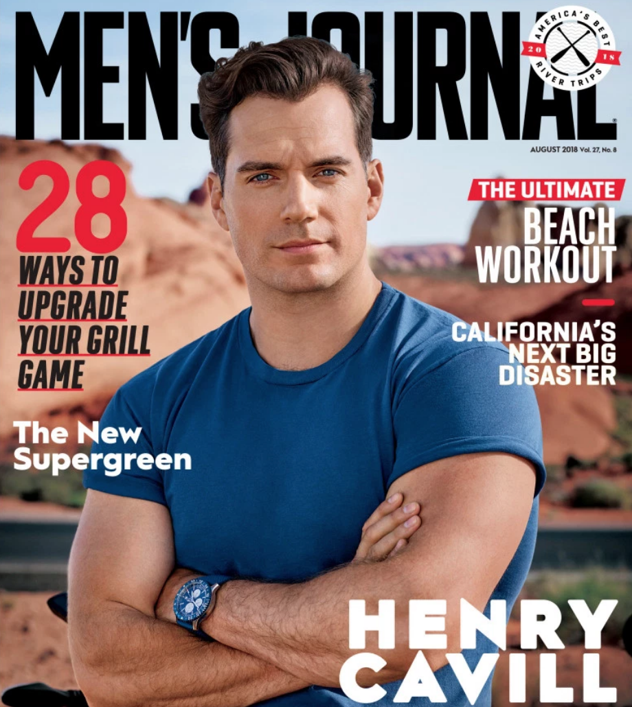 Henry Cavill on the Cover of Men's Journal