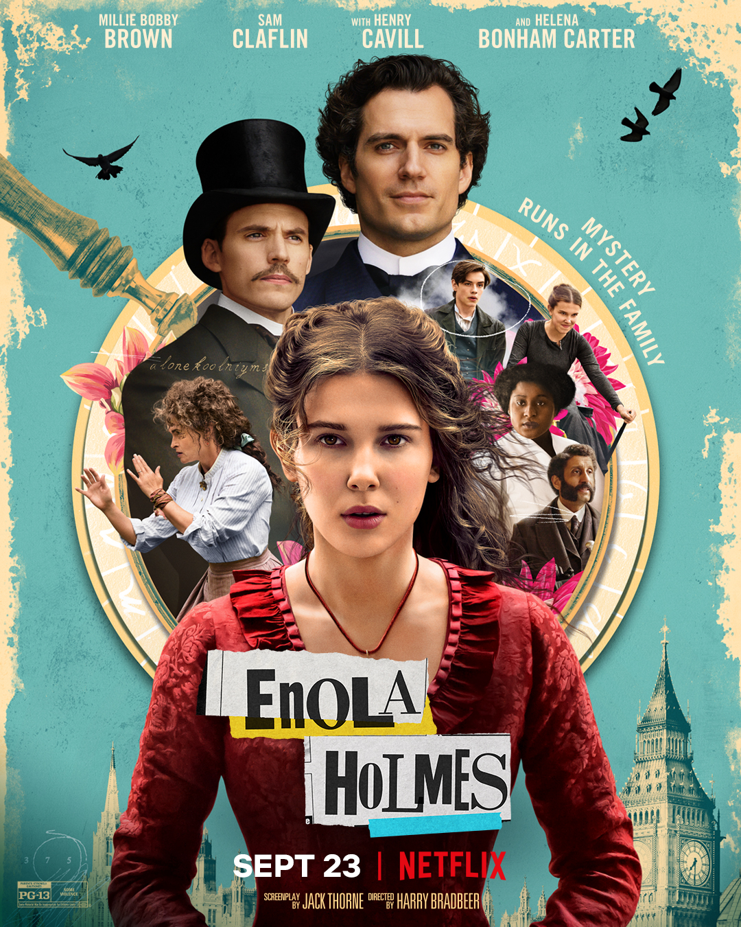 Enola Holmes, With Henry Cavill as Sherlock Holmes, Premieres on Netflix